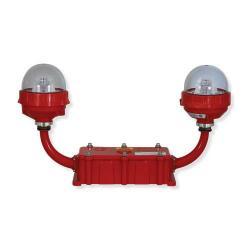 Avlite - AV-OL-FL810-UM-R-D - LED Double Low Intensity Obstruction Light -- LEXAN Polycarbonate - 110-240VAC - Red