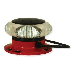 Avlite - AV-OL-FL864-UM-R-GPS - LED Single Medium Intensity Obstruction Light -- LEXAN Polycarbonate - 110-240VAC - Red