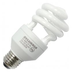 Sylvania - 29454 - CF14EL/TWIST/827/DIM/BL - DULUX Mini Twist CFL -- 14 Watt - Medium (E26) Base - Spiral Bulb - Dimmable - 60 Watt Incandescent Equivalent - 2700K Warm White