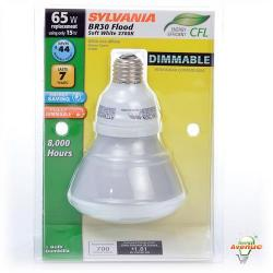Sylvania - 28954 - CF15EL/BR30/DIM/827/BL - DULUX EL Compact Fluorescent Reflector Lamp -- 15 Watt - 120V - E26 Medium Base - BR30 Bulb - 2700K Warm White