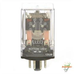 Selecta Switch - SR67S200A7 - General Purpose - Relay -- DPDT - 10 Amp - 120VAC - 8-Pin