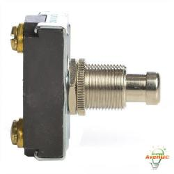 "Selecta Switch - SS228-BG - On/Off Pushbutton Switch -- 15 Amp - 125VAC - Screw Term - 15/32"" Diameter"