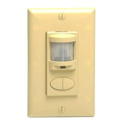 Sensor Switch - WSD 2P IV - Occupancy Sensor -- Passive Infrared - Wall Switch - 2 Pole - 120/277V - Ivory