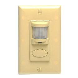 Sensor Switch - WSD-IV - Occupancy Sensor -- Passive Infrared - Wall Switch - 120/277V - Ivory