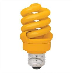 TCP Lighting - 48913Y - Yellow Compact Fluorescent Full Spring Bug Lamp