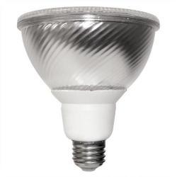 TCP Lighting - PF382330K - Flat PAR38 Compact Fluorescent Flood Lamp - 23 Watt - Medium (E26) Base - 82 CRI - 3000K Warm White