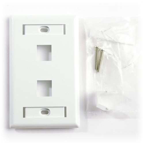 Belden Ax102655 Faceplate Flush 2 Port 1 Gang