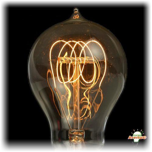 bulbrite 134020 nos40 victor antique edison quad loop light bulb 40