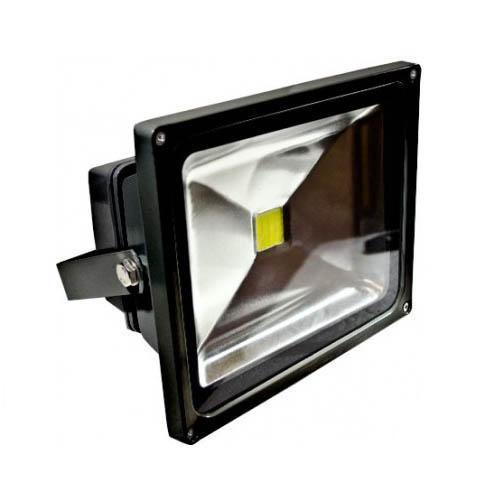 dabmar df led5960 led flood light 30 watt 120v 6500k black. Black Bedroom Furniture Sets. Home Design Ideas