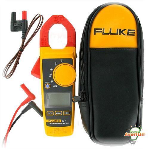 Fluke Fluke 324 True Rms Clamp Meter 600vac Dc Measurement