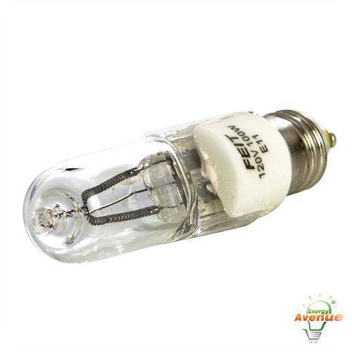 Feit Q100 Cl Mc Soft White Halogen Light Bulb 100 Watt T4