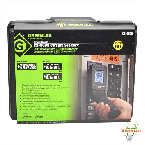 Greenlee Cs 8000 Circuit Seeker Circuit Tracer Energy Avenue