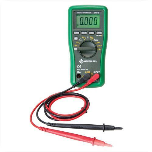 Electrical Tester Greenlee Dm 40 : Greenlee dm v ac dc multimeter a cap temp