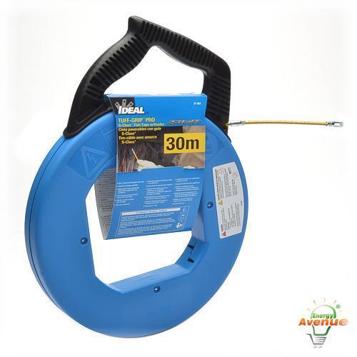 Ideal 31 061 steel fish tape 100 feet 1 8 inch wide for Ideal fiberglass fish tape