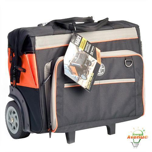 Klein 55452rtb 24 Pockets Rolling Tool Bag
