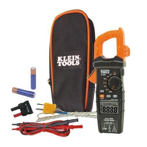 Klein Tools CL800 - 600 Amp AC/DC True RMS Auto-Ranging Digital Clamp Meter