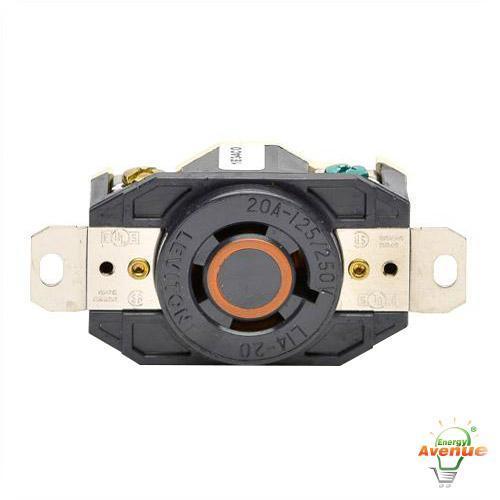 l14 20r receptacle wire diagram leviton 2410 twistlock receptacle nema l14-20r black 20 ...
