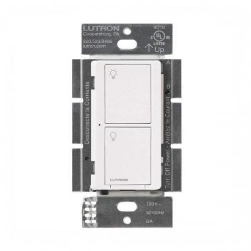 Lutron PD-6ANS-WH Caseta Neutral In Wall Switch