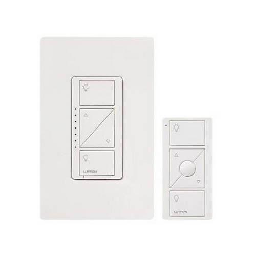 lutron p pkg1w wh wireless in wall dimmer and remote 10 yr battery life 30 ft. Black Bedroom Furniture Sets. Home Design Ideas