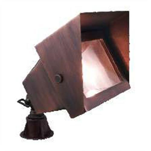 Orbit Industries - B310-NB - Natural Brass Solid Brass Rectangle Landscape Spot Light