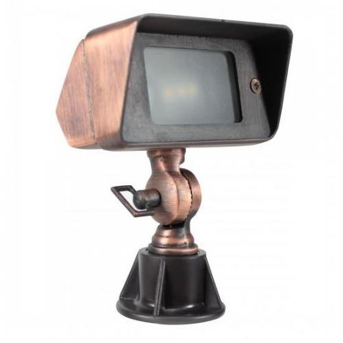 Orbit Industries - B610-ARB - Architectural Bronze Cast Brass Rectangle Landscape Spot Light