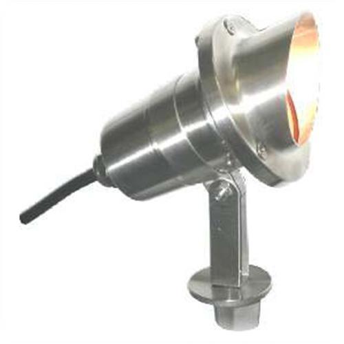 Orbit industries ss111 stainless steel hooded bullet for Bullet landscape lights