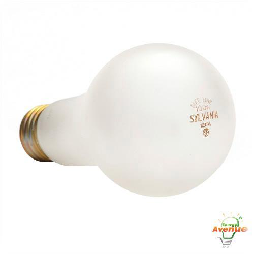 sylvania 100a21sl 120v safeline frosted a21 - Sylvania Light Bulbs