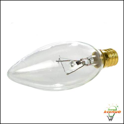Feit 25ctc 130 Clear Light Bulb 25 Watt Torpedo Tip