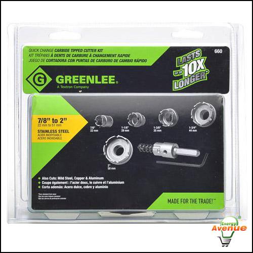 Greenlee 645-011 Quick Change Arbor for Sizes 5//8 Through 2-1//4-Inch 3//8-Inch Shank
