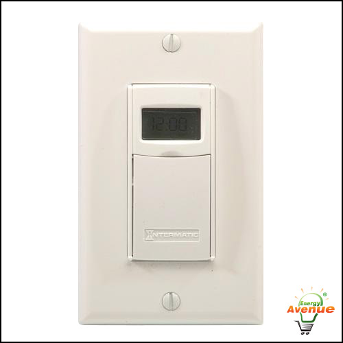 White ST01 Self Adjusting Programmable Wall Switch Timer INTERMATIC
