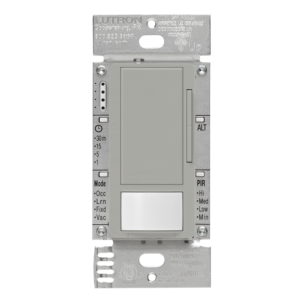 Lutron MS-Z101-WH OCC//Vac Dimmer Snsr White Wall