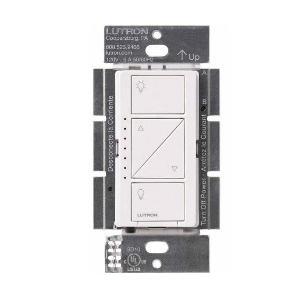 Lutron Wireless Switch >> Lutron Pd 6wcl Wh Wireless In Wall Dimmer Single Pole Energy Avenue