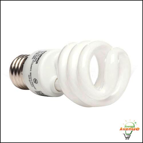 sylvania 29376 cf13el/mini/830 compact fluorescent light bulb 13 watt  spiral | energy avenue