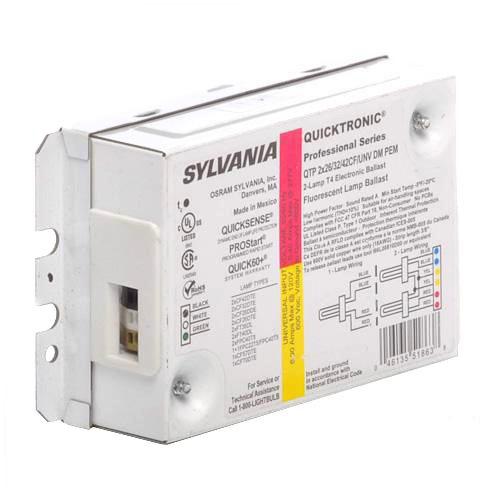 Sylvania QTP2x26//32//42CF//UNV DM Compact Flourescent Electronic Ballast