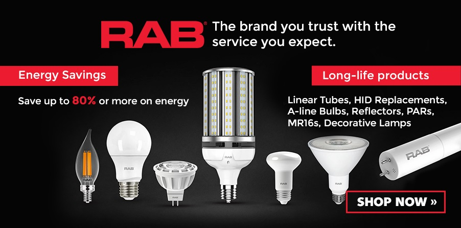 Shop Rab Lamps - Tubes, A Lamps, PARs, MR16s, HID Replacements, Decorative Lamps, and more!