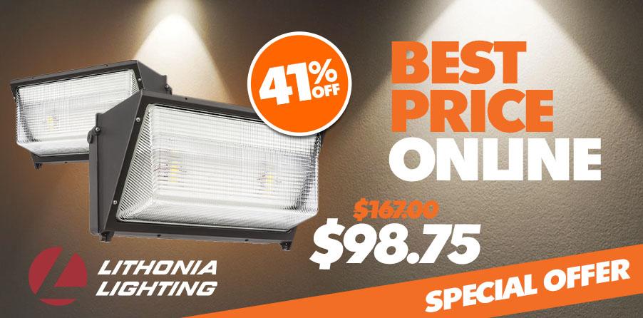 Lithonia Lighting Adjustable Light Output Wall Pack LED - Lithonia Lighting TWR1-LED-ALO-40K-MVOLT-DDBTXD