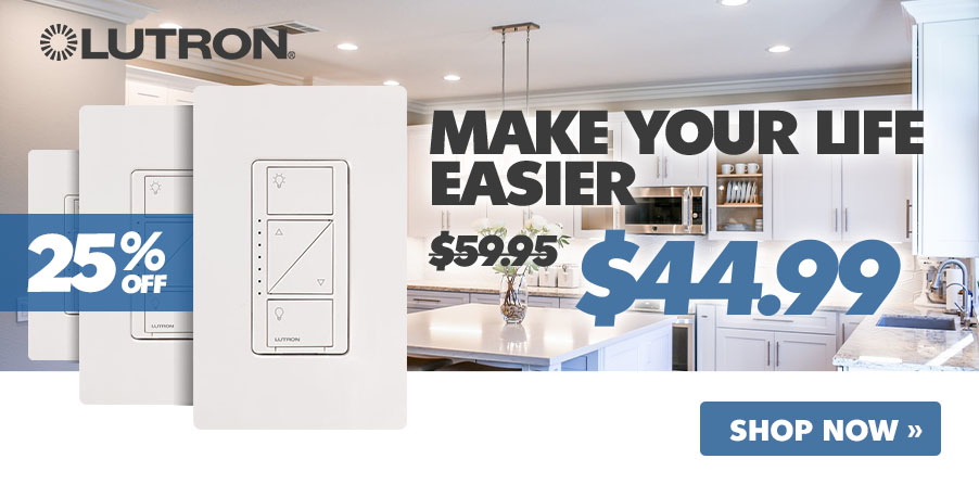 Lutron Wireless Smart Dimmer - Lutron PD-6WCL-WH Promo
