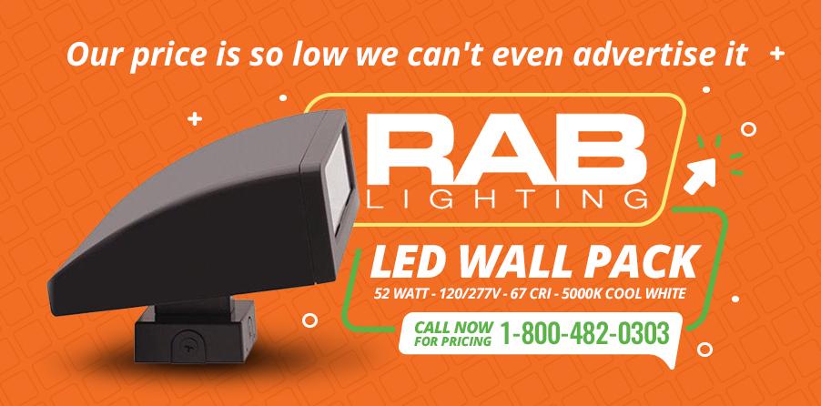 Rab Lighting RWPLED52 - Lowest Price Guarantee!