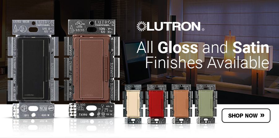 Lutron Dimmers with variety of colors for sale at EnergyAvenue.com!