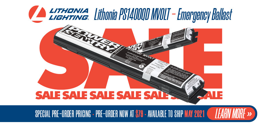 Lithonia PS1400QD MVOLT - Emergency Ballast - Pre-Order Price of $79 at EnergyAvenue.com!